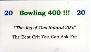 1 of 25 Bowling 400