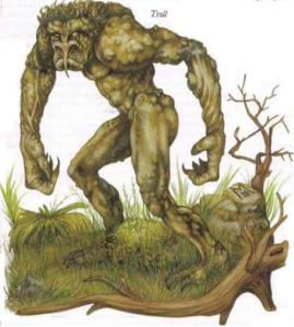 Øskur, as a Troll  (2).  Not shown : his huge spiky Greatclub.